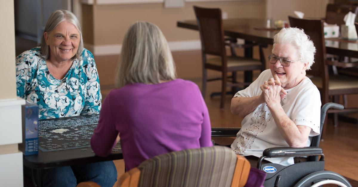 Elders having a conversation